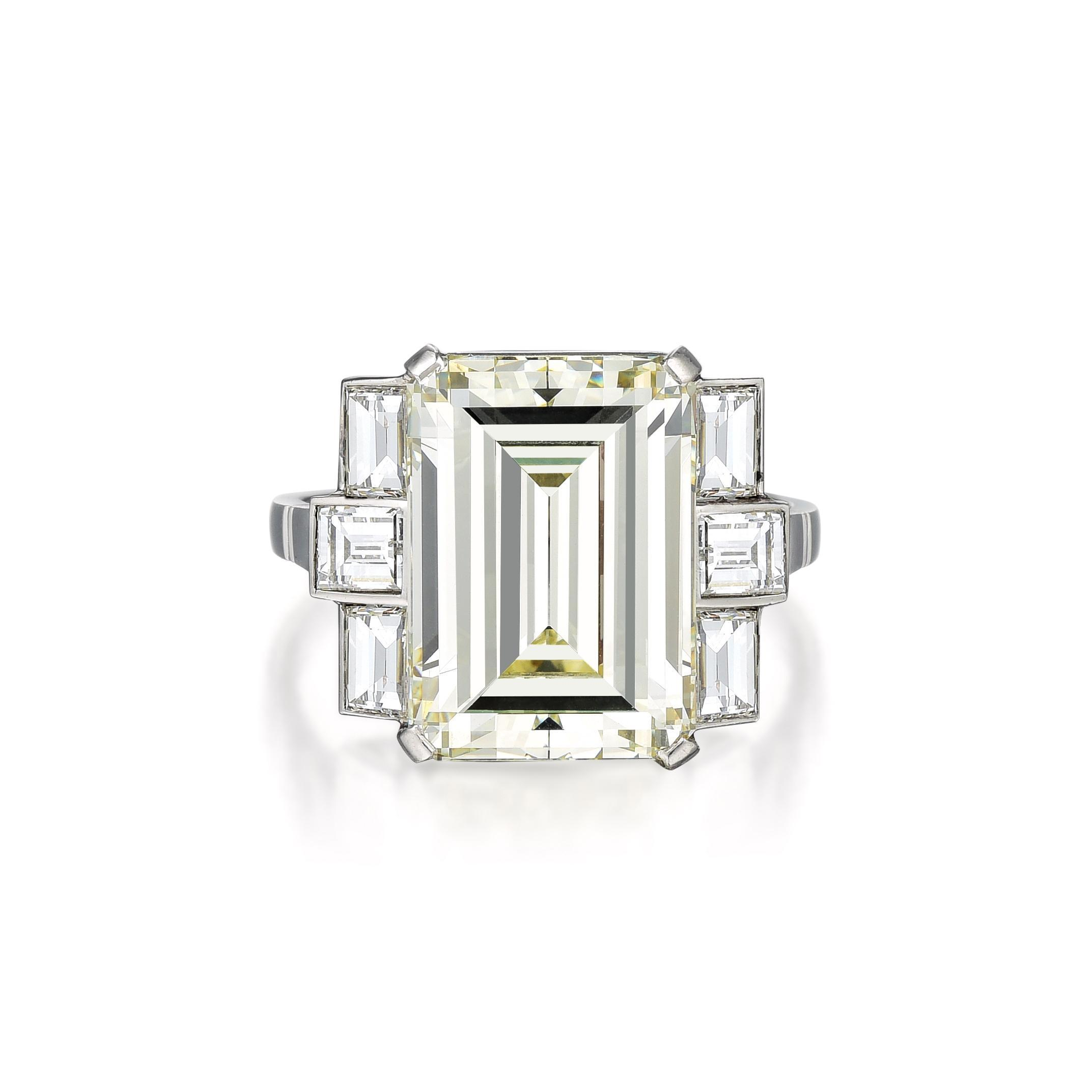 Art Deco Platinum Diamond Ring - Fortuna Auction Fine Jewels Post Sale Results