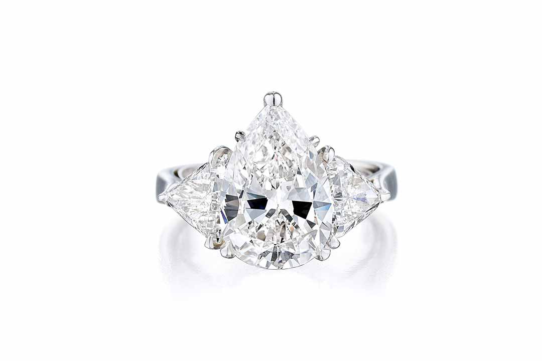 A 4.50ct Pear-Shaped Diamond Ring