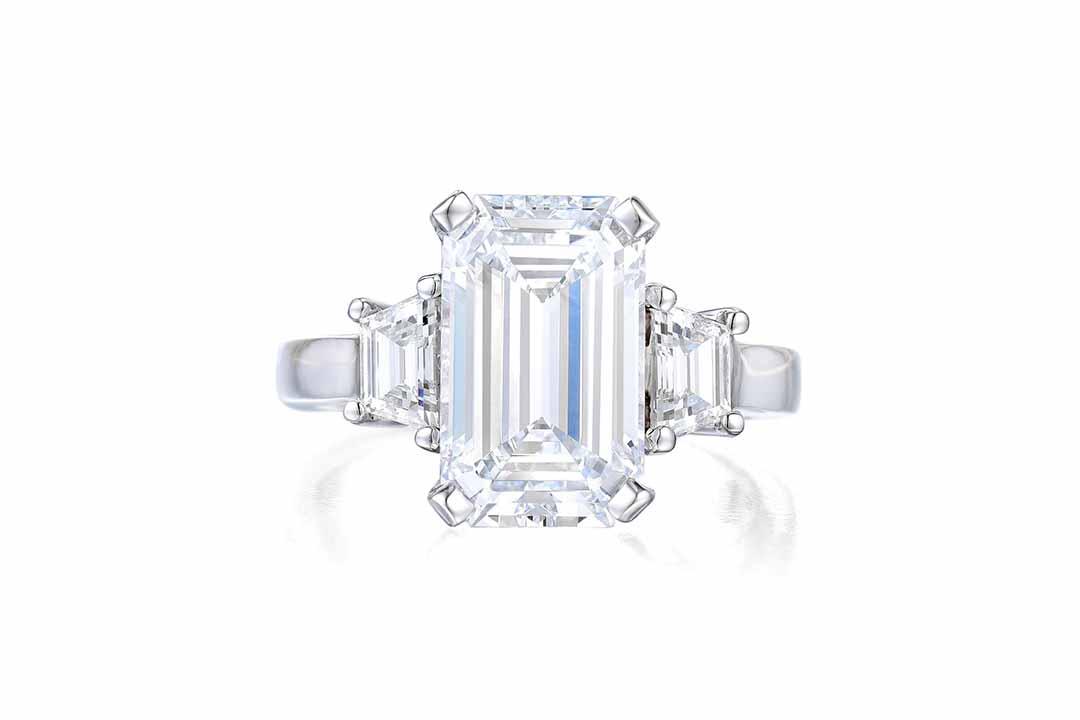 A 5.01ct D IF Emerald-Cut Diamond Ring