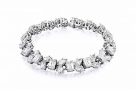 Harry Winston Diamond Platinum Bracelet