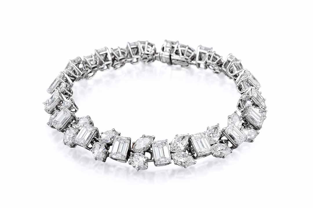 Harry Winston Diamond Platinum Bracelet