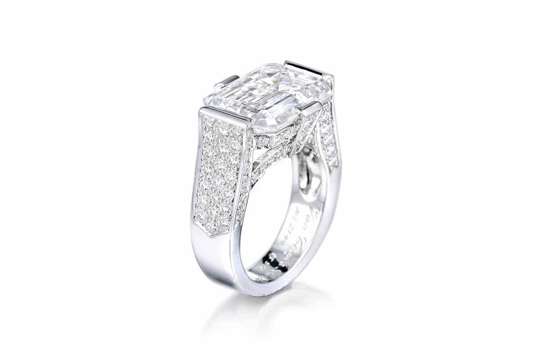 Van Cleef & Arpels 10.33ct D IF Diamond Ring