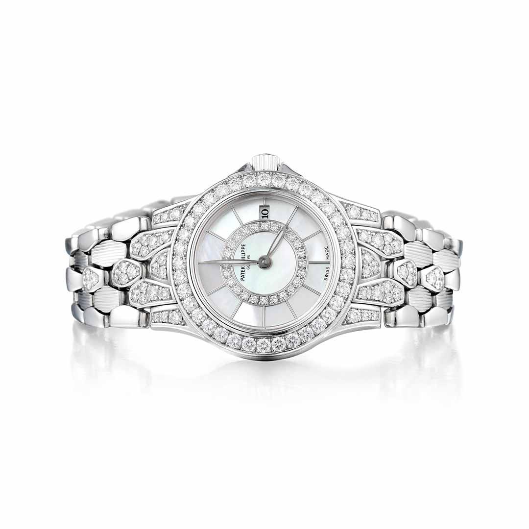 Patek Philippe Neptune Diamond White Gold Watch