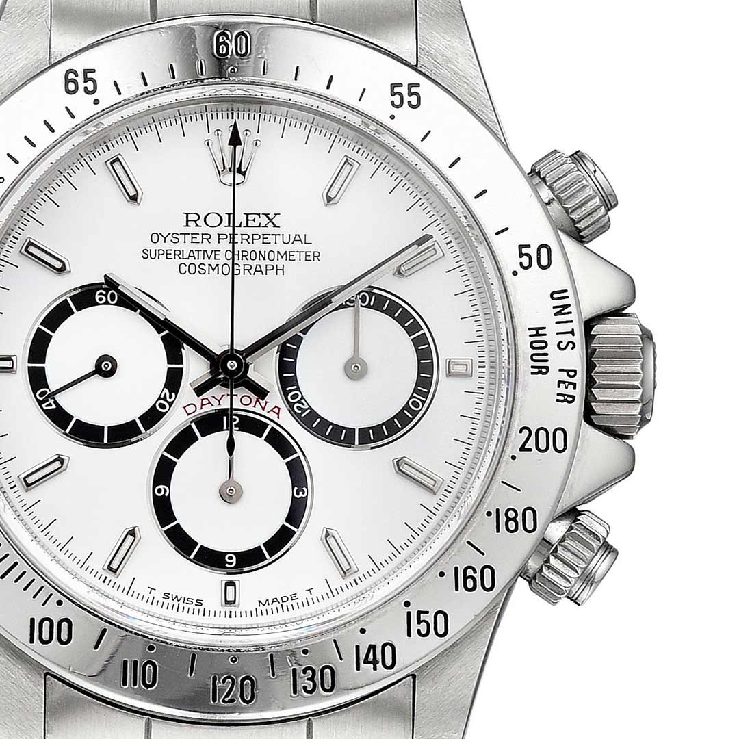 "Rolex ""Four-Line"" Daytona Ref. 16520, with Zenith movement. Achieved $43,750 at Fortuna's Important Watches auction in September 2018."
