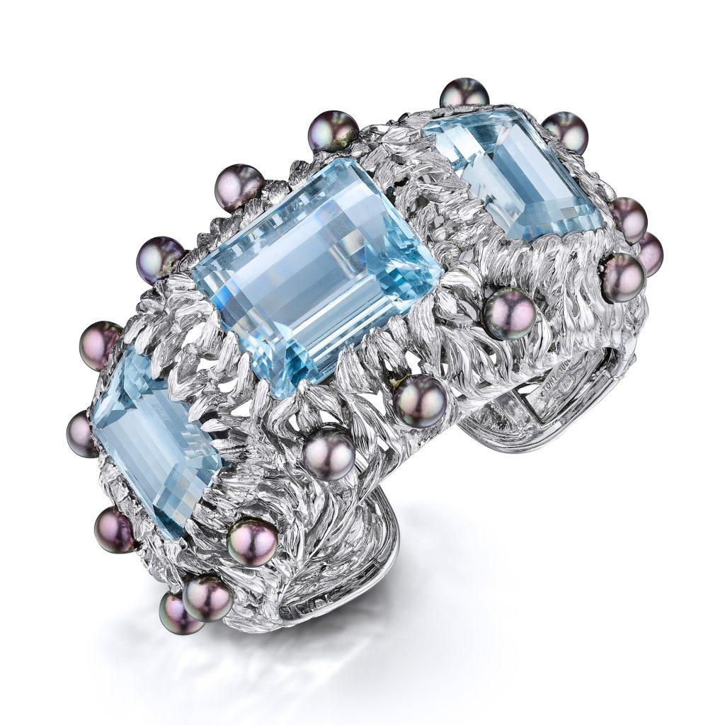 Tony Duquette Aquamarine Cuff- Fortuna Fine Jewelry & Watch Auction