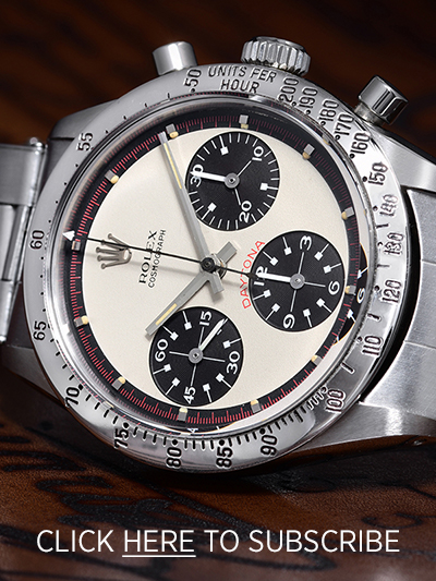 Subscribe to the Fortuna Watch Newsletter - Rolex Paul Newman Daytona 6239