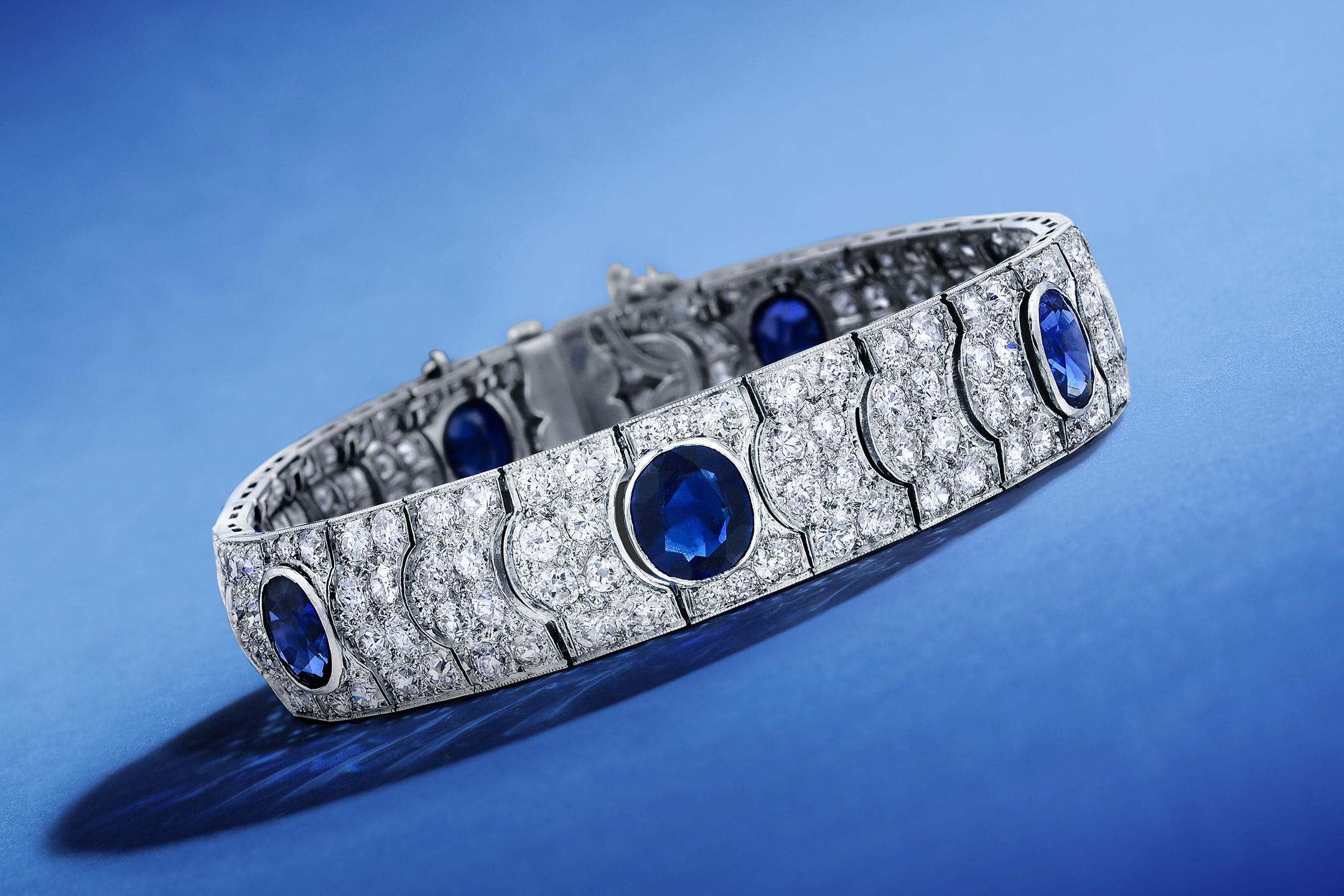Magnificent Jewels - Art Deco Sapphire and Diamond Bracelet - Fortuna Fine Jewelry & Watch Auction NYC