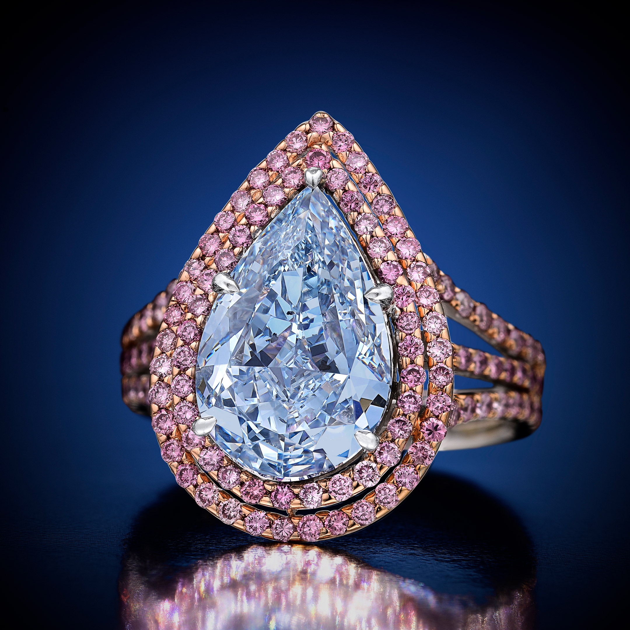 Fancy Intense Blue Diamond Ring- Fortuna Fine Jewelry and Watch Auction NYC December 2018 Magnificent Jewels