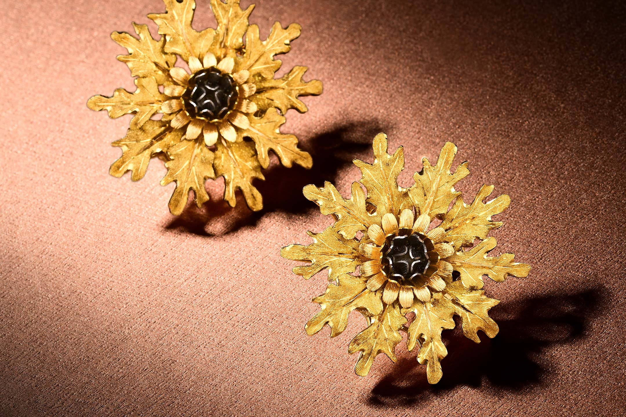 Buccellati Trigold Thistle Earclips_Fortuna Exchange March Fine Jewelry and Watches
