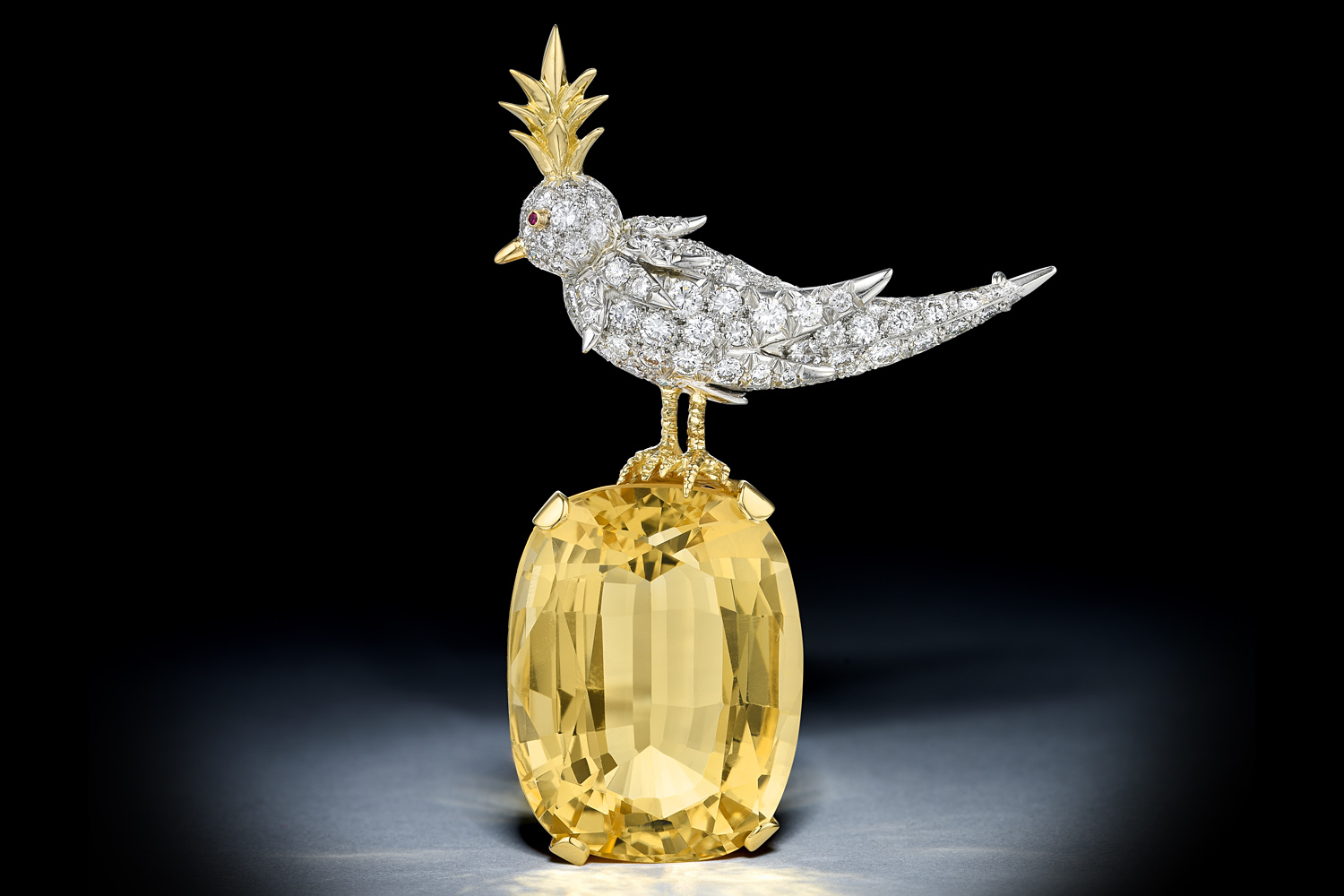 Tiffany & Co. Schlumberger Bird on a Rock Brooch - Fortuna NYC Fine Jewelry Auction