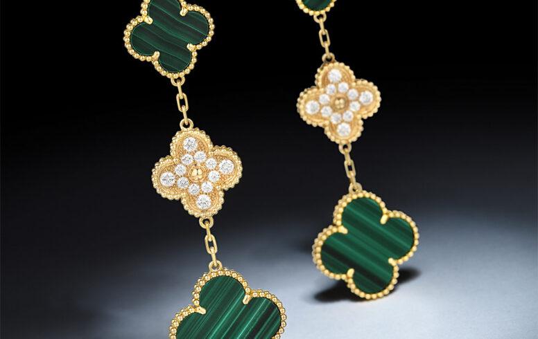 Van Cleef & Arpels Magic Alhambra Malachite Earrings - Fortuna October Exchange_Mobile