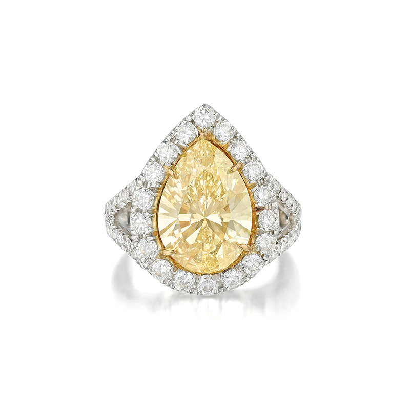 5.96ct Fancy Yellow Diamond Ring