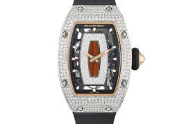 Richard Mille RM-07 Ladies Watch in White Gold and Diamond Pave