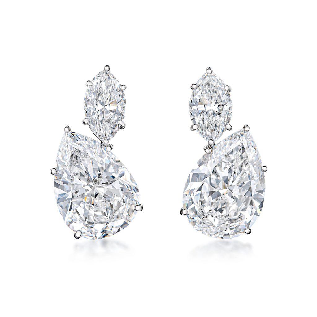 Vintage Harry Winston Diamond Earrings - Fortuna Important Jewels Auction