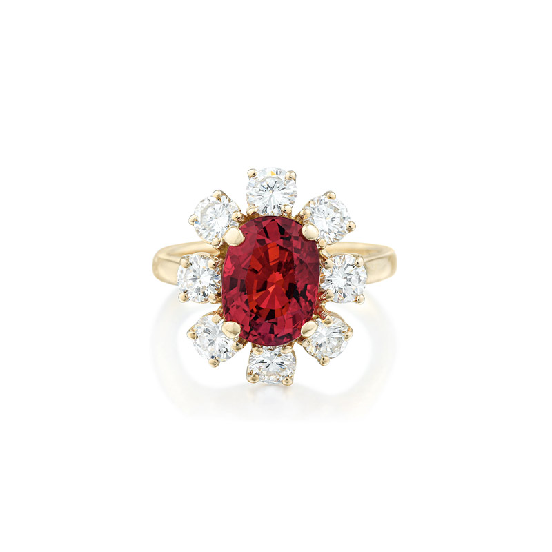 Unheated Ruby and Diamond Ring - Fortuna Fine Jewels Auction