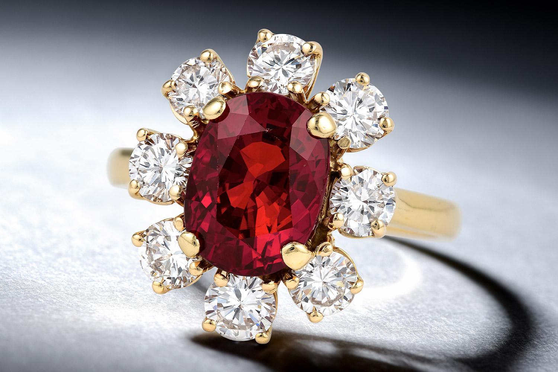 Unheated Burmese Ruby Ring