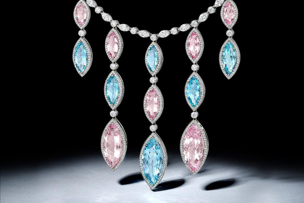 Tiffany & Co. Morganite and Aquamarine Necklace