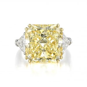 Graff 15.01ct Fancy Light Yellow Diamond Ring