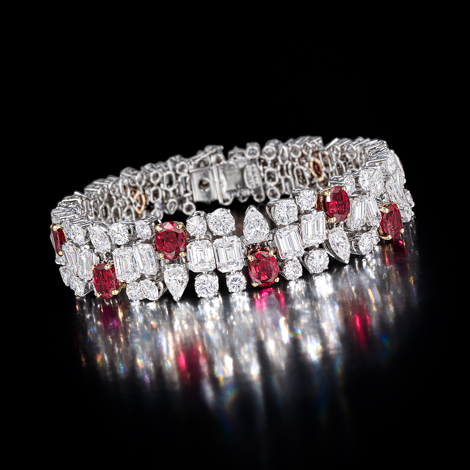 Chaumet Diamond and Ruby Bracelet - Fortuna Auction NYC