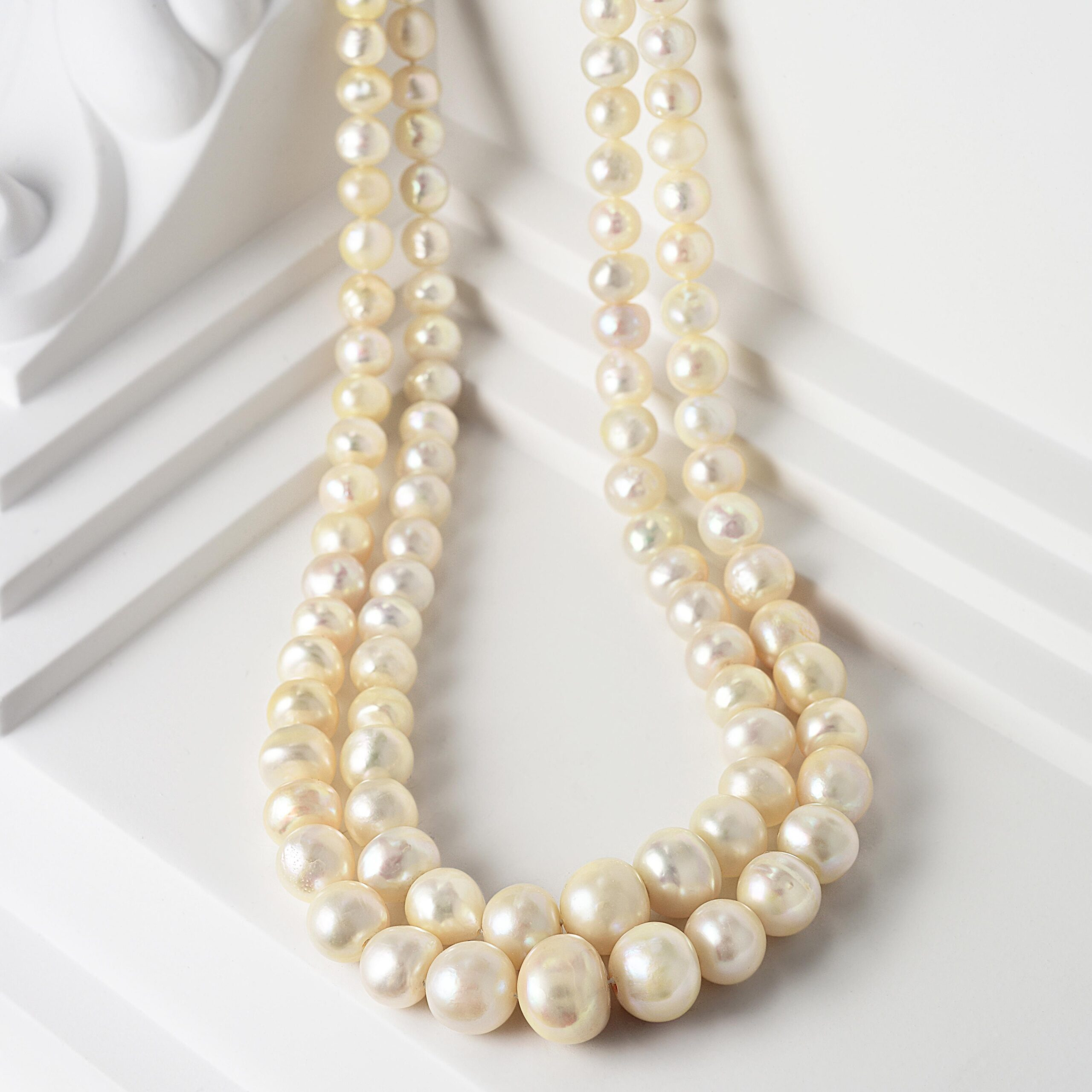 Double Strand of Natural Pearls