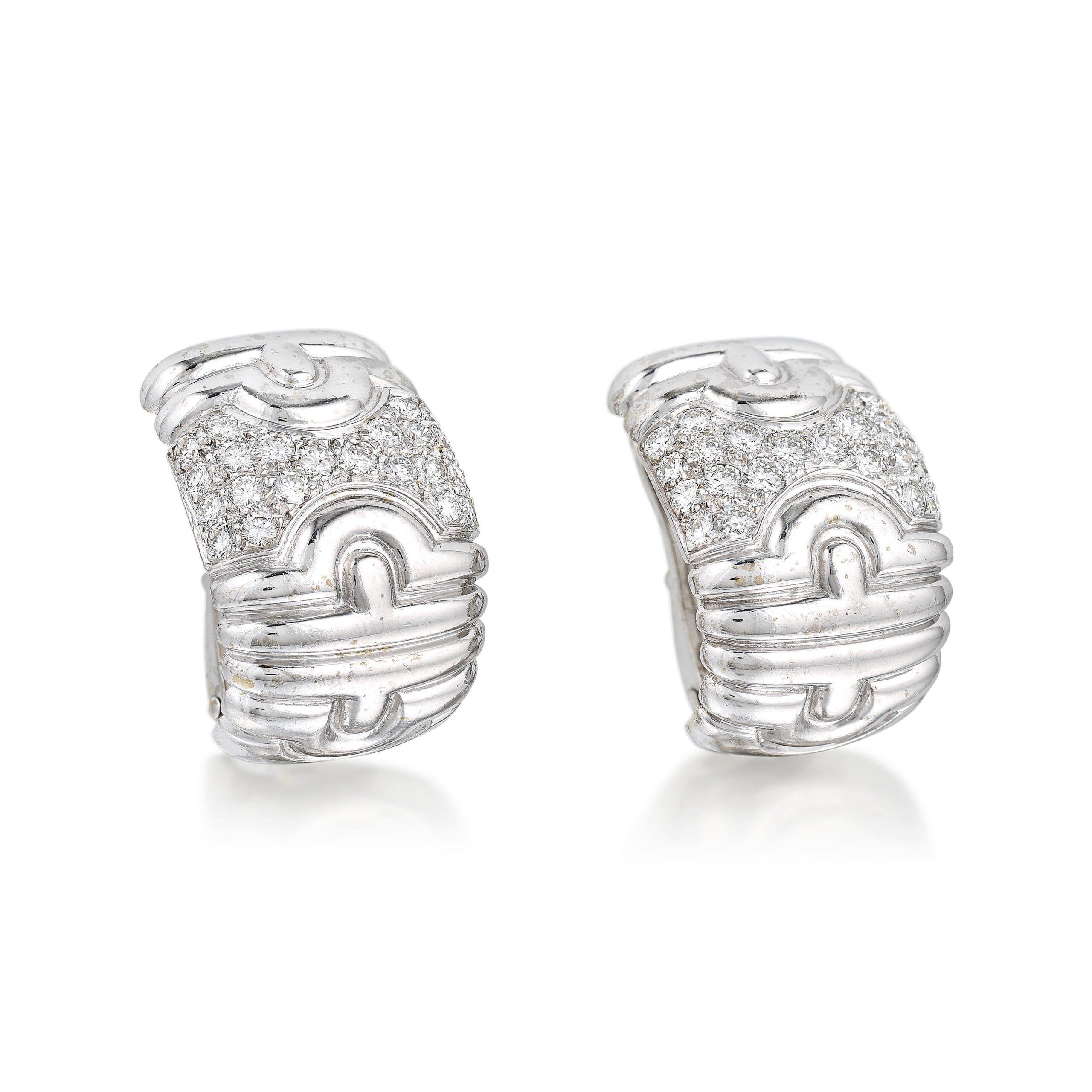 Bulgari Parentesi Diamond Earrings