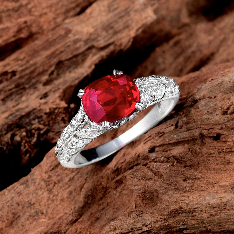 2.34ct Unheated Burmese Ruby Diamond Ring - Jun 2017 Fine Jewels