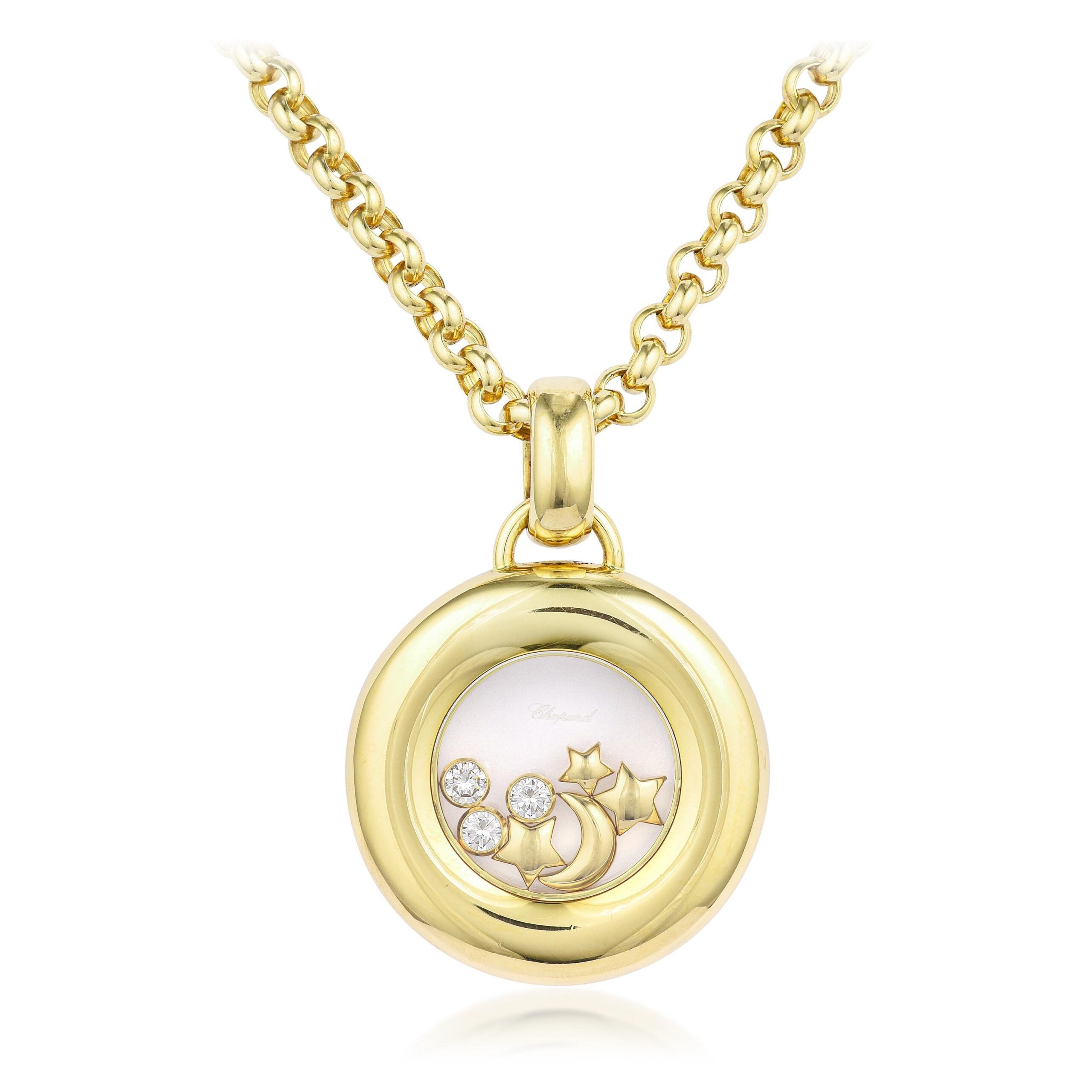 Chopard Moon and Stars Happy Diamonds Pendant Necklace