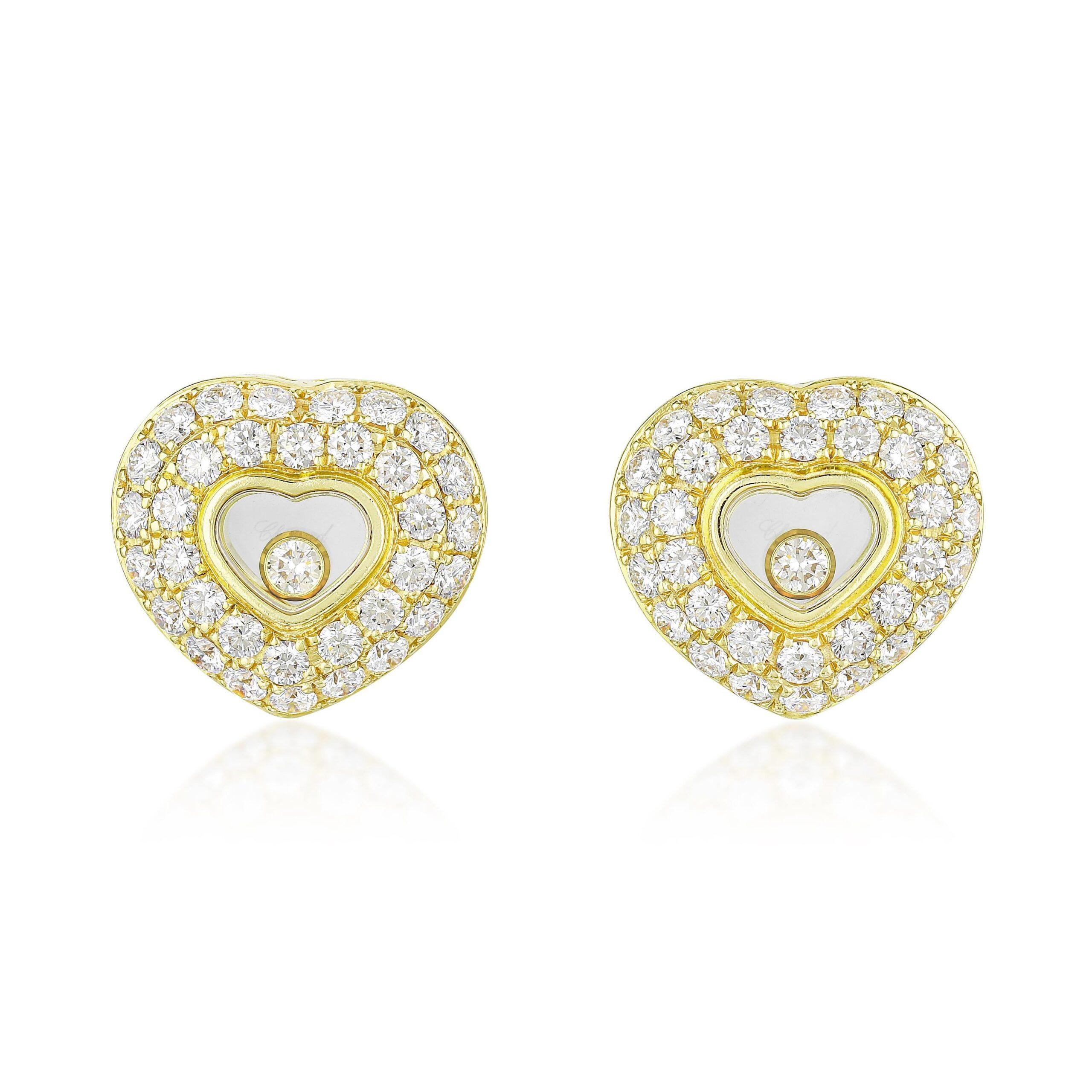 Chopard Ohrstecker Happy Diamond Earrings