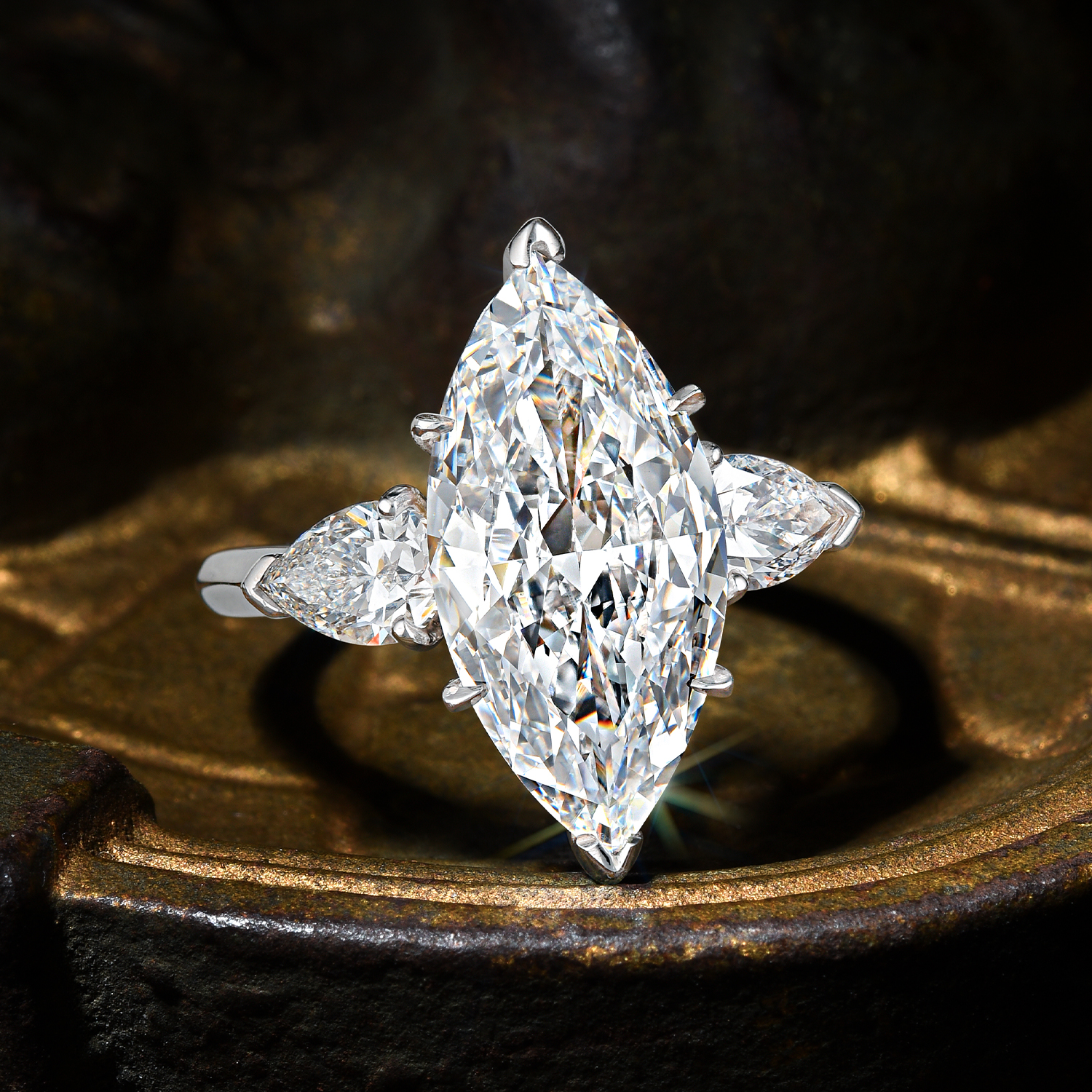 Type IIa D IF 4.07-carat Marquise Diamond