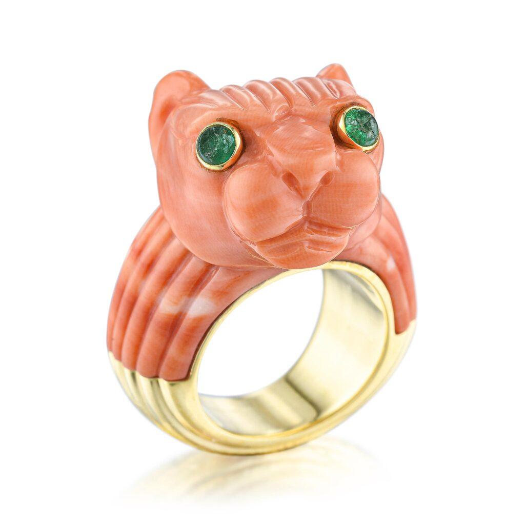 david webb coral panther ring